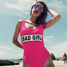 Hot Pink Bad Girl Playsuit