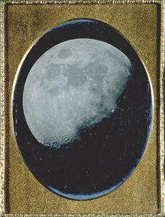 The Moon, August 6, 1851. Daguerreotype.