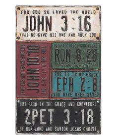 Look at this #zulilyfind! Antique-Inspired License Plate Bible Quotes Wall Sign by Jozie B #zulilyfinds