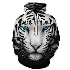 Animal Print Hoodies Plus Size Blue Eyes Tiger Harajuku Sweatshirts Men Women Casual Hooded Pullover Tracksuit Jacket T-Shirts-Shirts Hoodie Sweatshirts, Pullover Hoodie, Sweatshirts Online, Hoody, Tiger Hoodie, Wolf Hoodie, Skull Hoodie, Sweat Shirt, Geometric Tiger