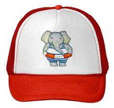 Elephant TRUCKER HAT - Baseball hat, cap, headgear, apparel by alittlesun on Etsy Elephant Hat, Headgear, Baseball Hats, Cap, Trending Outfits, Unique Jewelry, Handmade Gifts, Etsy, Baseball Hat