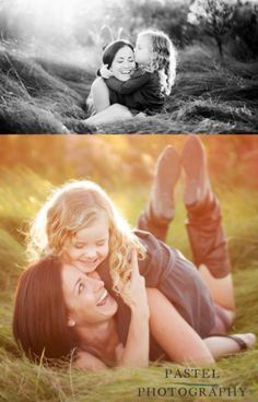 Mommy Daughter ❤ the bottom one is cute (I want to do something like this with Nat. Mom Daughter Photos, Mommy Daughter Photography, Mother Daughter Poses, Children Photography, Family Photography, Mother Daughters, Pastel Photography, Photography Poses, Mommy And Me Photo Shoot