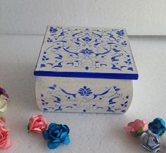 caja azulejo estencil
