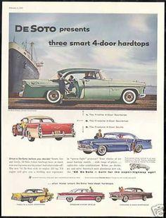 De-Soto 4 & 2 Dr Car Photo Print Vintage DeSoto (1956)