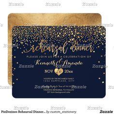 PixDezines Rehearsal Dinner/Faux Gold Confetti