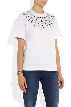 Markus Lupfer | Embellished cotton T-shirt | NET-A-PORTER.COM