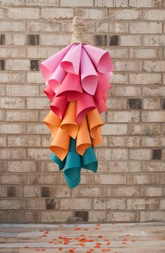 colorful paper cones