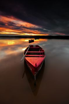 boat vs. sunset
