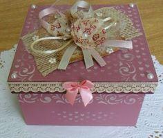 Silviaartesanato - Caixa porta-treco quadrada