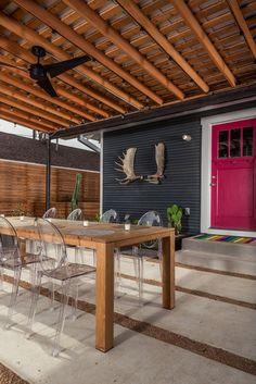 I like the alternating concrete and decomposed granite. contemporary patio by brett zamore design