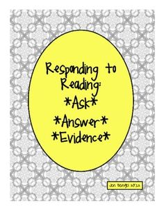 FREEBIE...printable form for students to ask themselves questions while reading, answer with their best guesses, using evidence from the text and what they already know:)