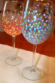 wine glass painting - Google Search