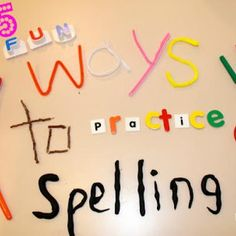 For Children who are having problems spelling this is a good website for them to get help on. This picture displays spelling done in many ways. I think children should use manipulatives like paint, blocks and many other hands on objects to learn how to spell and then translate it on paper. 8963