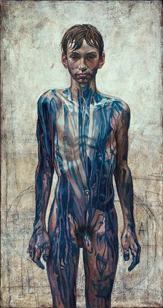 Daniel Barkley. Blue Vincent, 2005, acrylic on canvas, 61x107cm