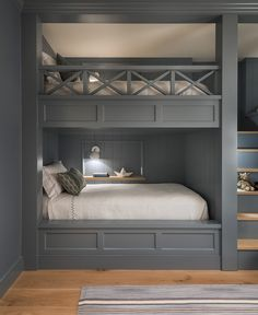 Room Design Bedroom, Girl Bedroom Designs, Home Room Design, Room Ideas Bedroom, Small Room Bedroom, Home Bedroom, Girls Bedroom, Bunk Bed Rooms, Bunk Beds Built In