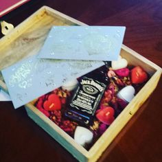 Include things you love in your ceremony. Today MR locked a gorgeous box containing love letters to each other candles and a bottle of #jackdaniels to open on their 10th anniversary.  What would you put in your time capsule???