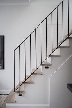 48 ideas for wrought iron stairs railing black Stairs Ideas Black Ideas iron Railing stairs wrought Black Stair Railing, Wrought Iron Stair Railing, Black Stairs, Stair Railing Design, Metal Stairs, Stair Handrail, Loft Stairs, Staircase Railings, Modern Stairs