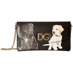 Dolce   Gabbana BI0977-AI852-HNG66 (Dogs Black) Cross Body Handbags (3.810  RON) ❤ liked on Polyvore featuring bags, handbags, shoulder bags, chain  strap ... 48554c193d