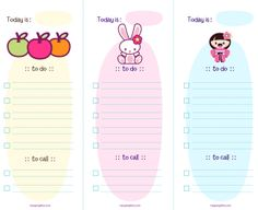 Kawaii To-Do List