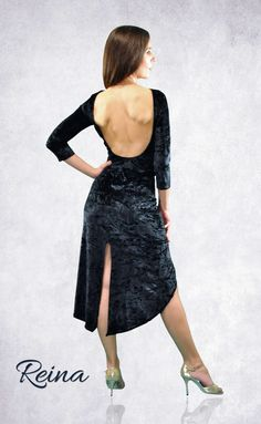2c87b68f716 Sexy long tango dress velvet dark blue and other colors with slits