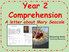This resource is a fictional comprehension activity for year 2. It is a fictional letter written in character as a soldier to his mother about Mary Seacole. It is based on the KS1 SATs reading paper and includes 3 differentiated levels. <br /> There are ...