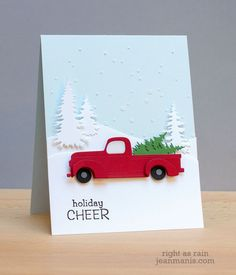 love this scene card from Jean Manis, especially the dimension of it (embossing paste for falling snow)