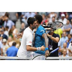 Nole and Gael at the end of the semis.