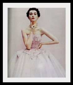 Evening gown by Cristobal Balenciaga 1950 modelled by Dovima