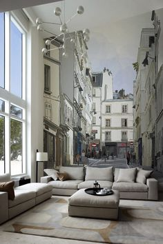 Superb super mural in-room paris | via living-in-luxury : handa. I REALLY NEED THIS MURAL!