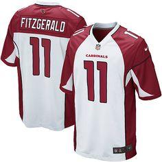 5b04d5b9532 Nfl Arizona Cardinals Nfl Jerseys Men Nike Larry Fitzgerald Arizona  Cardinals White Game Jersey Nfl Shop Outlet : Polyester, Nfl NFL shield at  collar.