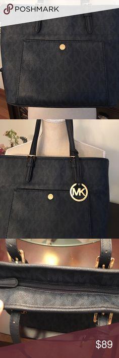 Michael Kors Purse Authentic Navy Blue Michael Kors Purse.  Only used 1 time. Michael Kors Bags Satchels