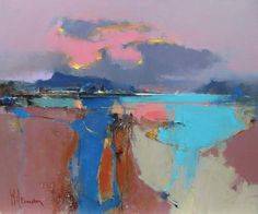 Official website of Peter Wileman PPROI RSMA FRSA, Seascape/Landscape artist. Seeking atmosphere with light and colour in varying degrees of abstraction. Seascape Paintings, Landscape Paintings, Abstract Landscape, Abstract Art, Examples Of Art, Western Art, Artist Painting, Art World, Art Inspo