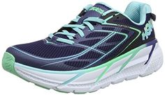 Hoka One One Womens Clifton 3 Medieval Blue/Spring Bud Running Shoe - That  sweet, smooth-as-butter ride that frequents your dreams is back .