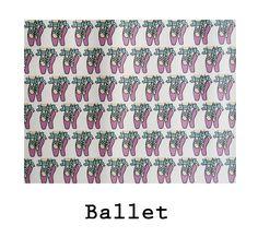 Estampado propio puntas de Ballet impreso sobre hule de alto gramaje. #hule #ballet #pink #design #waterproof