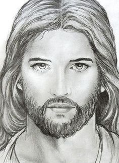 Jesus 7 by Stained Glass Painter / Jim M. Christian Drawings, Christian Images, Christian Art, Jesus Drawings, Pencil Drawings, Jesus Sketch, Pictures Of Jesus Christ, Jesus Face, God Jesus