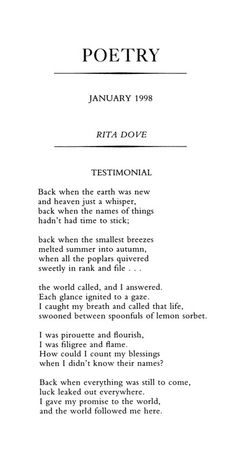 Former Poet Laureate Rita Dove celebrates her birthday on August 28. See her talk about her Penguin Anthology of Twentieth Century Poetry here.