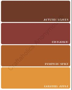 Autumn Paint Chip: Fall Printable. Fall Paint ColorsOrange ...