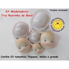 Modeladores Trio Rostinho de Bebê