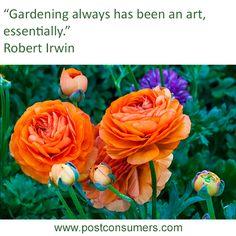 Gardening Quote: Robert Irwin