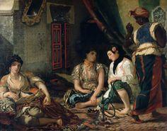 Eugène Delacroix _ Femmes d'Alger dans leur appartement-1834 © Louvre