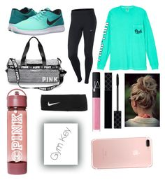 """""""Gym"""" by annagracebieber on Polyvore featuring NIKE, Victoria's Secret, Gucci and NARS Cosmetics"""