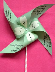 pinwheel invitation