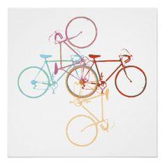 Bike art poster -  turn / rotational symmetry