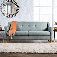 Furniture of America Winslow Modern Mid-Century Tufted Sofa - family room/ living room Sofa Design, Living Room Sofa, Living Room Decor, Living Area, Living Rooms, Mid Century Modern Fabric, Tufted Sofa, Sofa Beds, Loveseat Sofa