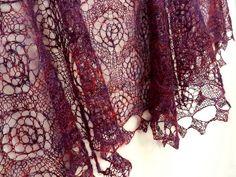 Ravelry: lismete's Wheeled Lace Shawl in Artfibers Tsuki.