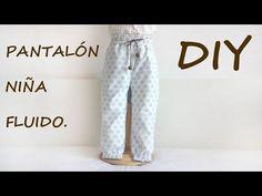 Pantalón niña, con vídeo tutorial explicativo de su confección. Patrones, patterns, moldes. Hazlo tu misma. DIY