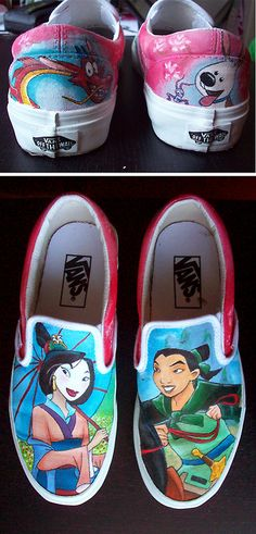 Totally awesome custom painted shoes.