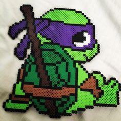 TMNT Donatello perler beads by Christy Cooper