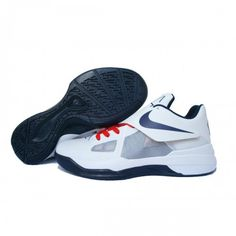 best sneakers 5d244 54e6e Nike Zoom KeVIn Durant 4 Iv White Midnight Navy Basketball shoes