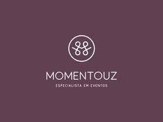 Momentouz, Logo Design, Event Planner by Andrea Pinter